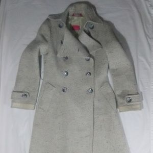 MACKAGE Beige Long Tweed Double Breasted Coat 4